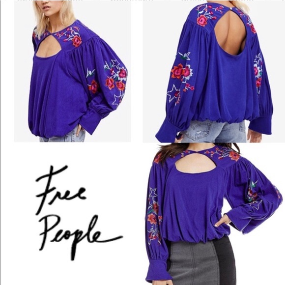 Free People Tops - Free People Lita Embroidered Top - T0145